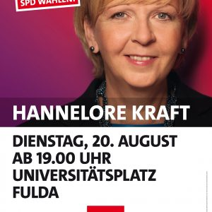 Hannelore Kraft (stellv. Parteivorsitzenden und Ministerpräsidentin von Nordrhein Westfalen)