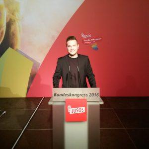 Fabian Scheibelhut Bundeskongress Jusos 2016