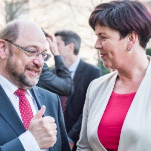 Birgit Kömpel und Martin Schulz